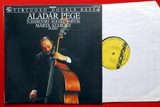 ALADAR PEGE VIRTUOSO DOUBLE BASS ORIGINAL HAND SIGNED 1984 JAZZ HUNGARY LP MINT