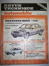 MERCEDES 190 essence et diesel - Revue Technique Automobile (PEUGEOT 504 604 V6)