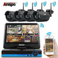 Anspo 4CH HD WiFi 1080P NVR Wireless Security Camera System Home Outdoor 1TB HDD
