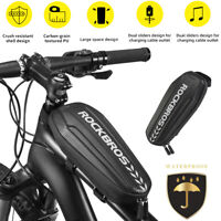 ROCKBROS Front Bicycle Frame Waterproof Bag Cycling Bike Tube Pouch Holder
