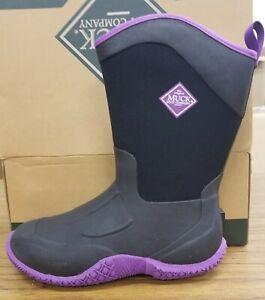 Muck Boot Women's Tack II Mid Boot Black / Purple Sizes 6,7,10's