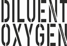 Oxygen und Diluent Flaschenaufkleber für Rebreather von Sauerstoffsensoren.de