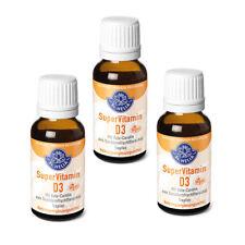 Super Vitamin D3, hochdosiert, 1000 IE, Tropfen, 3x 20 ml, vegan