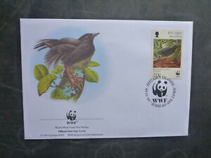 WWF 1996 PITCAIRN Is ENDANGERED LOCAL BIRDS 20c RATE FDC FIRST DAY COVER