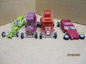 4 vintage built model cars  Trantula, Tijuana Taxi