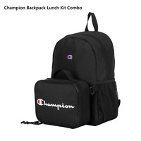 Champion Youth Backpack with Lunch Bag Black