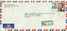 Hong Kong CHINA SG#202,#207 NORTH POINT-1 24/FE/71 Registered(label)
