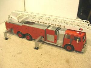 Vintage Conrad die cast City of Miami Fire Rescue red ladder truck