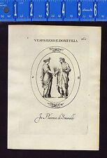 Vespasian and Domitilla the Elder - Leonardo Agostini-Battista -1685 Engraving