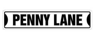 PENNY LANE Street Sign new Decals UK music Beatles| Indoor/Outdoor