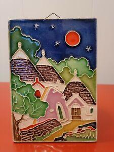 Creazioni Luciano Italian Artwork ITALY Pottery Wall Art Signed, 1990's