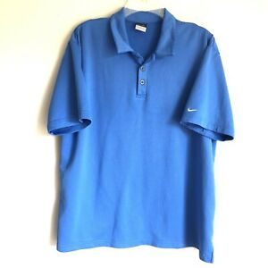 Nike Sphere Dry Sz XL Blue Mens Golf Polo Shirt Activewear Swoosh Pullover