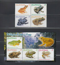 Philippine Stamps 2011 Endemic Philippine Frogs Complete Set, MNH