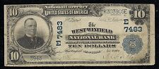 Rare West Winfield, NY, #7483, Series 1902, $10.00 Plain Back, 4 notes reported!