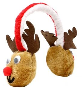 Adults Novelty Reindeer Ear Muff Fluffy Cosy Warm Christmas Xmas Accessory