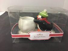 NIB Hallmark Ceramic Penguin Tea Light Holder