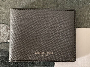 Michael Kors Mens Grey Classic Card Holder Wallet. Brand New 100% Authentic.