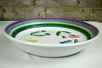 "Caleca Meadow 14"" Pasta Serving Bowl Handpainted Made in Italy Italian Pottery"