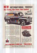 ORIGINAL RARE INTERNATIONAL TRUCKS VAN ADVERTISEMENT LAMINATED  1956