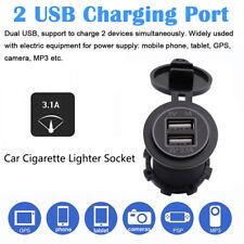 3.1A Dual Usb Car Charger 2 Port Led Voltmeter 12-24V Cigarette Socket Lighter U