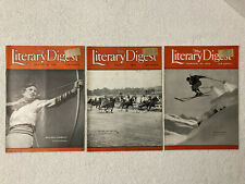 Lot of 3 THE LITERARY DIGEST Feb 15 Aug 1 & Aug 8, 1936 Sports National Recovery