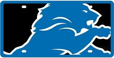 Detroit Lions Printed MEGA Style Deluxe Laser Acrylic License Plate Tag Football