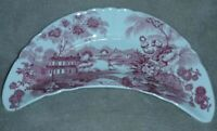 🔴VINTAGE CLARICE CLIFF TONQUIN BONE DISH ROYAL STAFFORDSHIRE - PINK / RED