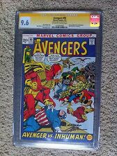 AVENGERS #95 CGC 9.6 SS - SIGNED BY NEAL ADAMS ORIGIN BLACK BOLT INHUMANS KEY