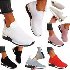 Damen Sportschuhe Slip On Sneaker Fitness Schuhe Laufschuhe Comfy Trendy Neu