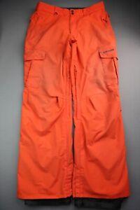Men's 2015 Quiksilver Dry Flight 10K Snowboard Ski Pants Orange Size XL (37x32)