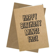 #214 Birthday Greeting Card Comedy Rude Funny Humour Comical Cheeky Sarcastic