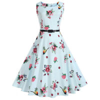 Vintage Style Women 50S Swing Gothic Pinup Party Rockabilly Evening Flare Dress