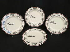 "Set of 4 Syracuse China MILLENNIUM Clock Face 12"" Dinner Plates or Chargers, USA"