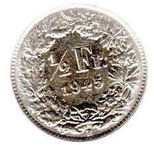 1/2 Franken 1945 B in vorzüglich