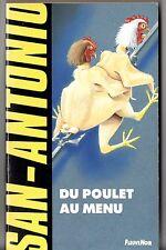 SAN-ANTONIO n°72 # DU POULET AU MENU # 1991 H