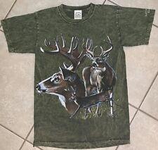 Vintage Habitat Buck Deer Tie Dye Graphic T-shirt. Size Small.
