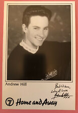 More details for andrew hill *hayden ross* home and away pre-signed 1990s cast fan card very rare