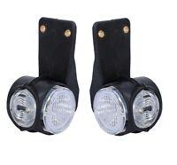 2x LED Positionsleuchten Begrenzungsleuchten Gelb Rot Weiß Neu LKW Anhänger 12V