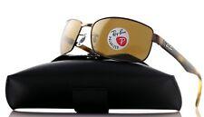 POLARIZED New RAY-BAN Havana Brown Square Metal Frame Sunglasses RB 3478 014/57