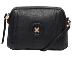 MIMCO Fantasy Black Bag Leather Cross Body Hip Clutch BNWT Authentic RRP$199 NEW
