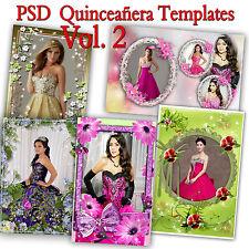 200 Photoshop Templates for Quinceañera-Quinceanera PSD Vol. 2