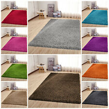 Large Non Slip Thick Pile Shaggy Rugs Living Room Bedroom Carpets Runners Mats