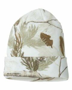 Kati Breakup 12'' Realtree All Purpose White Snow Camo Knit Cap Beanie LCB12