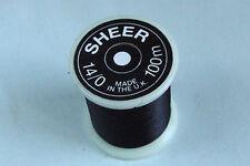 100m Fil SHEER montage NOIR 14/0 peche mouche fly tying thread black bobbin
