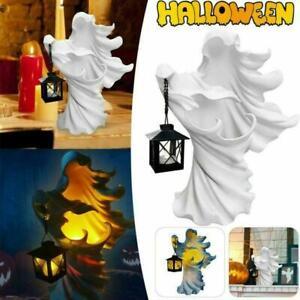 Hell's Messenger Lantern Faceless Ghost Sculpture Halloween Light Decor F8C1