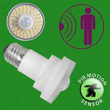 8x 4W LED Dusk Till Dawn PIR Motion Sensor Security Night Light Bulb ES E27 Lamp