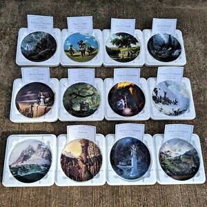 Danbury Mint ~ Lord of The Rings Plates Complete Exclusive Collection x12