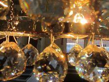 DESIGNER Pendelleuchte Echglas Bleikristall Lüster Lampe Facettschliff Chrom