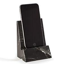 DESK ACCESSORIES - BLACK MARBLE DESKTOP CELL PHONE HOLDER - TABLET HOLDER