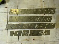 Alexander Taylor Hobson Pantograph Gravograph engraving Letters Font Type Set